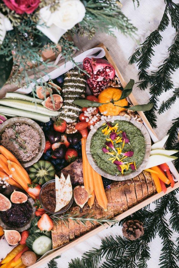 holiday grazing platter